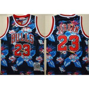 Chicago Bulls Michael Jordan Floral Fashio Jersey